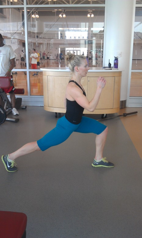 Lunge jumps, nice and long.