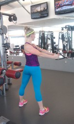 Stand perpendicular to the head of the cable, have a overlapping grip, feet planted firmly, hips squared.