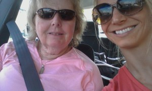 Mom and I on our way to Foxwoods!