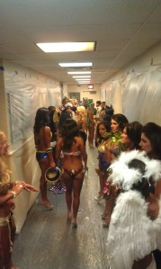 All the ladies of bikini, lined up and ready to hit the stage