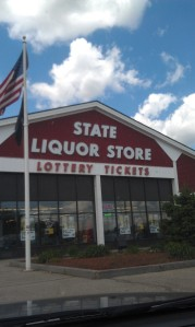 Seems strange to have a liquor store at a rest stop...